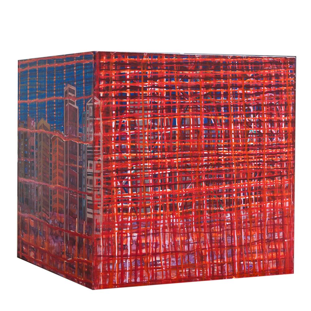 Objeto, lado a Lado, 2011, MDF, acrílico e verniz, 60cm³