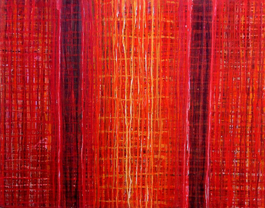 Solstício, 2010 - acrílico e pigmento s/tela, 70 x 90cm