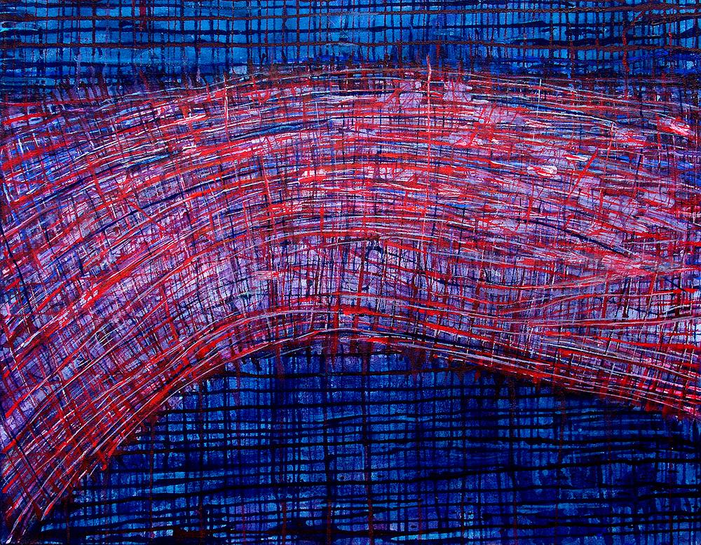 Latitude, 2010 - acrílico e pigmento s/tela - 70 x 90cm