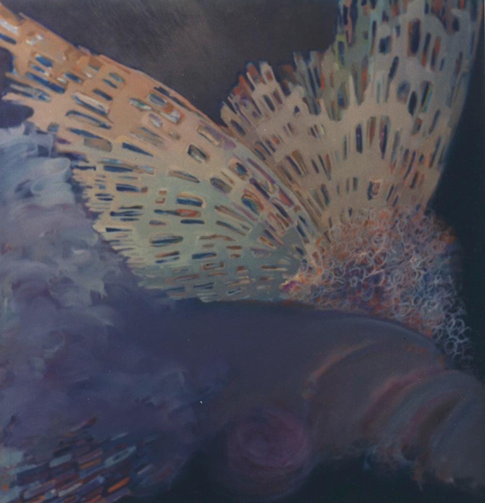 Anjo no céu azul marinho, 1993 - acrílico e pigmento s/tela - 138 x 132cm