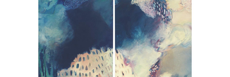 Fantasmas so Coliseu I e II (díptico), 1994 - acrílico s/tela - 150 x 300cm