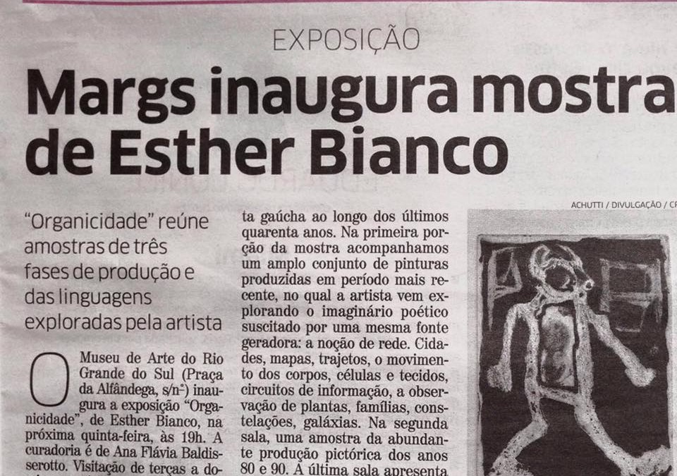 MARGS inaugura mostra de Esther Bianco