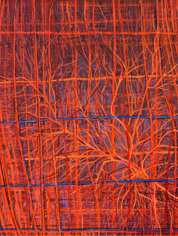 Cerebral, 2014, acrílico sobre tela, 90 x 70cm